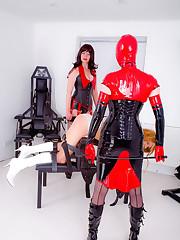 Strapon mistress punished sissy boy