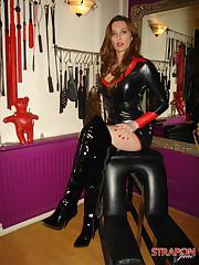 Mistress in black latex