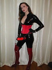 Mistress with the red strapon