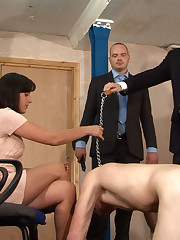 Submissive hubby success all his kinky wifie's wills