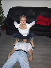 Wife sat on husband