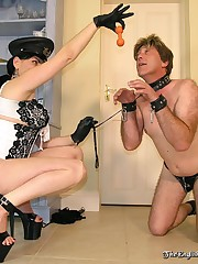 Strict mistress humiliate her slave