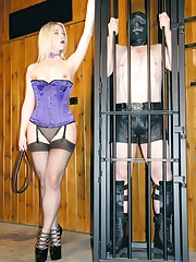 Domina dressed the purple coser, humiliated malesub