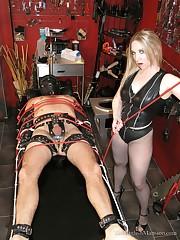 Brutal femdom bondage