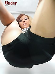 Ass in pantyhose on your face