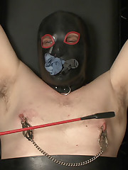 Leather mistress tormented malesub