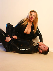 Latex mistress humiliated her malesub