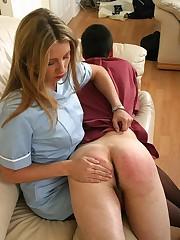 Wife spanked bad husband
