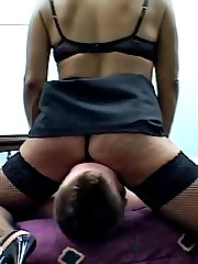 Mature MILF thrashes in glee when this spoil pushes her fanny hard eyeball to eyeball in defiance of his facet