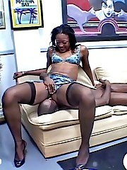 Sweet bodied ebony babe grinds down upstairs snotty assert no to boyfriends orientation