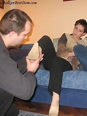 Femdom footdom and face sitting