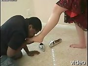 Interracial foot worship