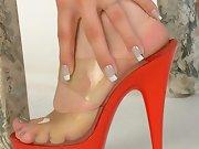 Red heels fun and teasing