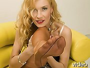 Blondes in nylon stockings