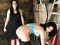 Tiffiny was punished hard across her bare cheeks