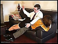 Wife in hand & her full bouncing bottom is given a long hard spanking