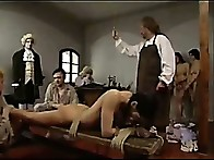 Servant cuties naked naked, tied down & whipped