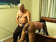 Black playgirl with nifty a-hole was strapped