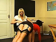 Brunette hottie was punished by girlfried