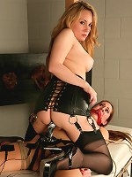 Headmistress Aiden Starr dominates new student Natali Demore.