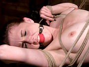 Bondage, wax and forced orgasms for pert submissive.