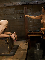 The mistress punished, sat on and fucked male sex toy