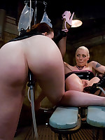 A beautiful ass takes an enema and a clear Lucite butt plug