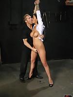 Bondage slut spanked