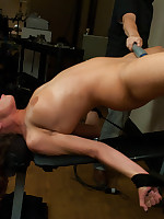 Big titted 19yr old, fated up & machine fucked until she squirts. She crawls between machines, cums on herself & literally shakes helter-skelter orgasms. So HOT!