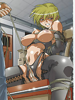 Naked, bound, and sexually tormented hentai beauties
