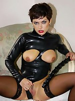 Very hot cut extensively latex outfit