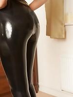 Alyssa black latex green