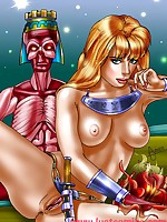 Comic book fantasy pinups
