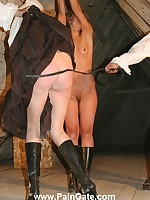 Two sluts bullwhipped