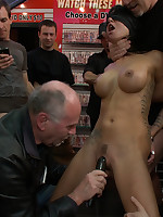 Sexual humiliation and anal action in an adult toy store