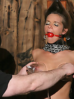 Blonde confined in device bondage