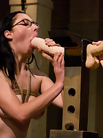 A class of slavegirls practices oral technique, confinement