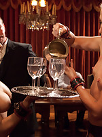 Grace makes slaves serve tables and satisfy her desires.