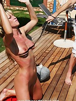 Blonde's meditation discipline involves severe whipping