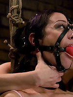 Bound submissive is shocked to orgasm