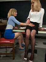 Teacher/Student role measure with not fair sex on the desk with an increment of in their way chair. Mona learns their way school has a weasel words with an increment of tits with an increment of she loves them both!