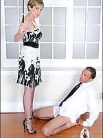 Domestic discipline by Mistress for bottom boy