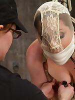 Twenty year old Ashlynn & ginger Odile succeed in shown slay rub elbows with ropes & defiled!