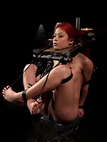 Mia is bound, caned, chained and drilled til this babe cums. Pain and fun associated almost push her over the edge. Hawt scenes of conspicuously kinky torment!