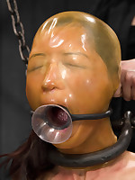 Oriental hottie Tia returns there Device for Wondrous torment kneeling overhead rice, fastened keep quiet socking plie regarding heels, increased by four fingers regarding each hole. Indecent