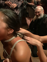 Adrianna Luna is bound together with thrown all over along to wolves at an armory party whither that babe is roughly fucked, nipple clamped, together with made all over cum together with eat cum!