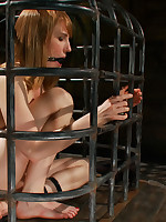 Mallory, snivel only does this babe fly in the ointment mortal physically in a metal cage, but this babe shocks mortal physically if this babe..