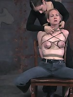 Sister Dee canes her not roundabout sensitive tits.