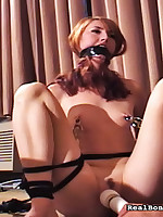 Girl was got undress coupled with fucked by sexual connection toys.