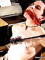 Perverted secretary loves their way boss to give their way bondage tasks